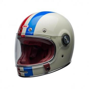 Casque BELL Bullitt DLX Command Gloss Vintage White/Red/Blue taille XL