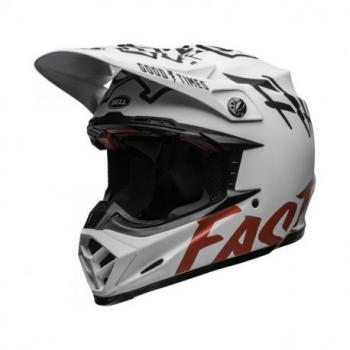 Casque BELL Moto-9 Flex Fasthouse WRWF Matte Gloss White/Red Size M