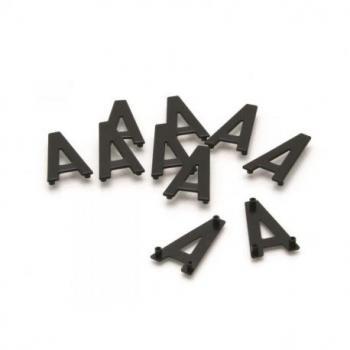 Caractères PPI ''D'' 45mm à clipser pour plaques aluminium 10 pièces