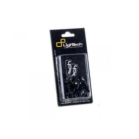 Kit vis de cadre LIGHTECH noir alu (24 pièces) Yamaha Fazer 600