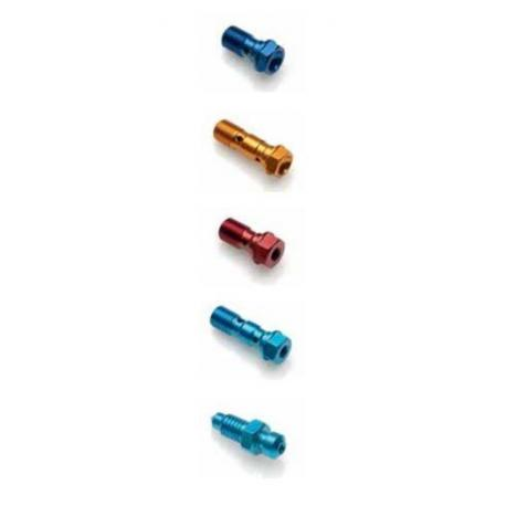 Vis de raccord de durites de frein double LIGHTECH M10 X 1 rouge alu