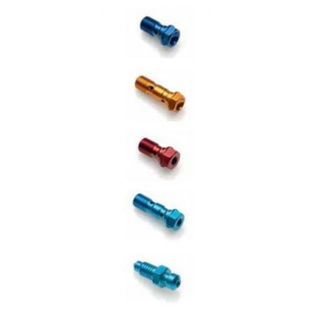 Vis de raccord de durites de frein double LIGHTECH M10 X 1 or alu