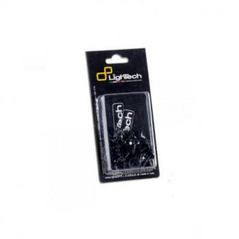 Kit vis de carénage LIGHTECH noir (48 pièces) alu Suzuki GSX-R1000
