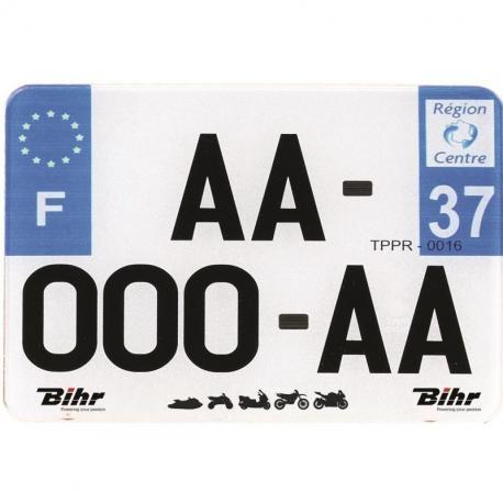 Plaques Françaises PPI 210x130 SIV Département 971 PVC 10 pièces