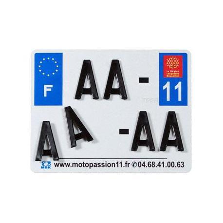 Plaques Françaises PPI 210x130 SIV Département 02 aluminium 10 pièces