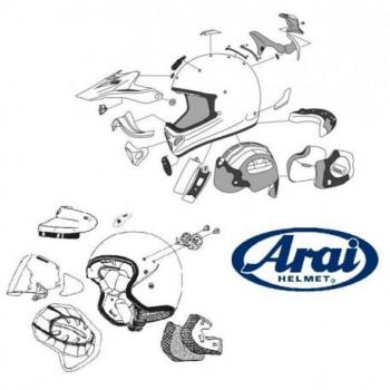 VISIERE ARAI MX-V SCRATCH CRAZY CASQUE OFFROAD