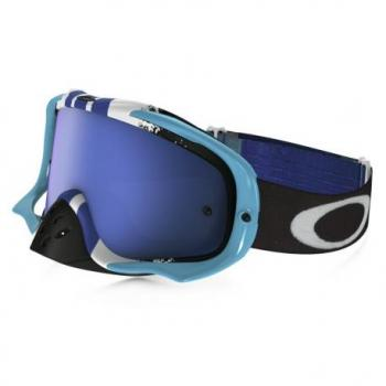 Masque OAKLEY Crowbar Pinned Race Blue/White écran Black Ice Iridium