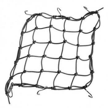 Filet Araignee Pour Casque ou Bagage - 40*40cm - 6 crochets - Noir